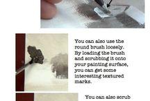 Techniques / Brush tips