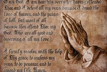 Prayer Posters / Great posters for teaching Catholic prayers.