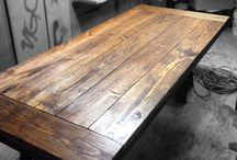 Wood Works / Reclaimed wood. Wood table. Handmade. Hapeville, GA Custom works. Commission furniture.