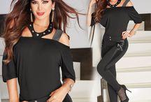 pantalon negro cuerina
