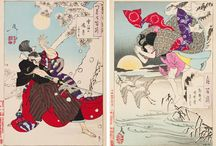 Artist Study : October : Tsukioka Yoshitoshi / Art appreciation via an artist in residence each month in our home school