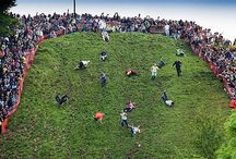 Cheese Rolling Festival! / Pictures of the truly traditional, wacky and wonderful Cheese-Rolling Festival in Gloucestershire, England! #cheese #foodie #festival