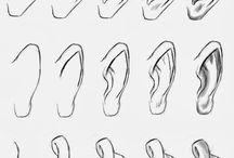 desenho orelha