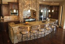 Kitchen Countertops Installations / This is our portfolio of our kitchen granite countertop installations. Amazon Stone is licensed, insured, and bonded. Our turnaround time from template to installation is 7-10 days.