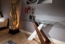 Console table Ideas / Truly Stunning Quatropi Design Studios Rectangular Console Tables. White gloss, black oak and walnut with glass