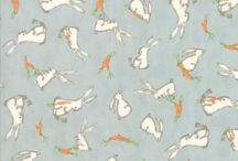 Moda Fabrics: Darling Little Dickens / Darling Little Dickens is manufactured by Moda and designed by Lydia Nelson. Featuring darling bears, honey bees, ducklings, rabbits, carrots and peas in a pod, we have chosen soft pastel green, aqua, taupe and toasty brown for our collection.  Perfect for baby boys and girls the not so young will love the images that evoke vintage children's books.