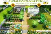 sims houses/gardens ideas