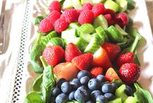 Salad Recipes & Ideas / A salad doesn't need to be boring!  Add variety to your lettuce, try a pasta or wilted salad, or one of these amazing fruit salads!