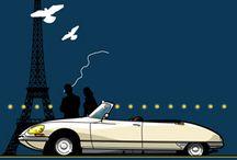 Vintage autó plakátok