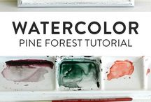 Art + Crafts / hand lettering, watercolors, painting, drawing, crafts, diy, brush lettering