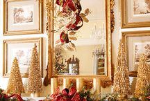 Gilded, Gold, & Glamour - Elegant Christmas Decor / Gold and glitter create a holiday interior suited for a palace.