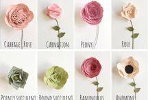 Plstené kvety