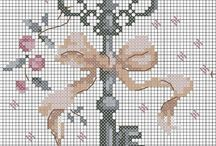 Keys cross stitch