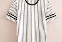Mens striped T shirt black and white / Striped pattern is one of the most popular elements of men's t shirts. The stripes can go well with any outfit and pants. Here listed all kinds of black and white striped t shirts for men with cheap wholesale prices for your choices.