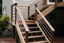 back stairs to patio