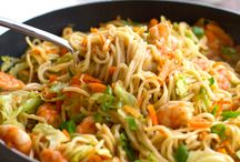 Noodles / Noodle recipes. Vegetarian recipes included.