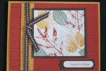 French Foliage-Retired / Made using Stampin' Up! French Foliage stamp set.