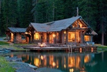 Log Cabins / I have always dreamed of owning a log cabin and looking out and seeing the mountains and water flowing!!!