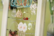 Jewelry Displays / Fashionable ways to show of jewelry whether at home or at a craft fair booth.