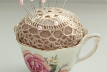 Vintage Pincushion Teacups and more
