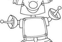 piirretyt robotit
