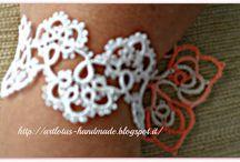 Frivolité, tatting bracelets