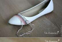 bordado de zapatos con piedras