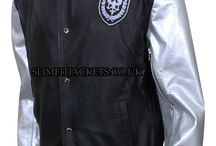 Silver Sleeves Men's Teddy Bomber Leather Jacket / Silver Sleeves Men's Teddy Bomber Leather Jacket is available at Slimfitjackets.co.uk at a discounted price with free shipping across UK, USA, Canada and Europe. For details, please visit: https://goo.gl/oSv4eq