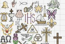 Cross stitch patterns - Christian symbols