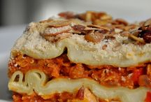 Food : Vegetarian lasagna, canneloni & roll-ups