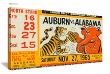 Alabama Football Art / Alabama football art! Vintage Alabama football art. Alabama football art made from authentic Alabama football tickets in the 47 STRAIGHT COLLECTION.™ Alabama football art on canvas. Alabama football posters. Historic Alabama football art. The BEST Alabama football art! / by Row One Brand