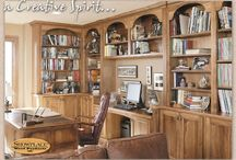 (DP) Home Offices and Workplace - Showplace Cabinets / Images of home office and workplace layouts from Showplace Cabinetry and its nationwide network of dealers.