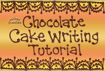 Chocolate cake writing
