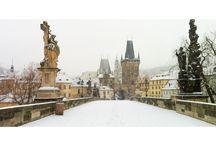 PRAGUE  / #Prague sous la #neige, #prague #snow #charlesbridge