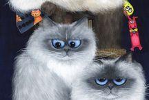 gatos art / Son lindos gatitos pero en arte
