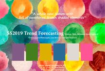 Trend SS2019|Fashion / SpringSummer2019 trend forecasting is  A TREND/COLOR Guide that offer seasonal inspiration & key color direction for Women/Men's Fashon, Sport & Intimate Apparel