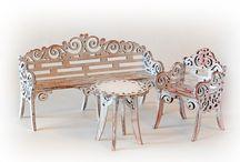 Doll garden furniture