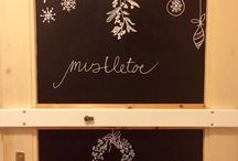 Decoration / Door chalk decor