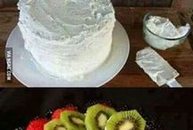 healthy cakes/ fruits