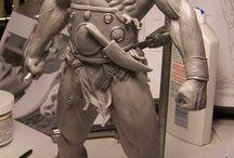 figurki rzeźba