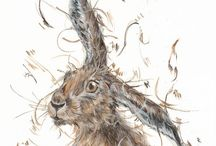 Hares - paintings & limited edition prints