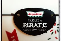 Talk Like A Pirate Day / Ahoy There Mateys! Talk Like A Pirate Day Giveaway at Krispy Kreme. Get a FREE Doughnut For Talking Like a Pirate, or Dress Like a Pirate for a Free Dozen on September 19 in the US and Canada (excludes Puerto Rico).  / by Krispy Kreme