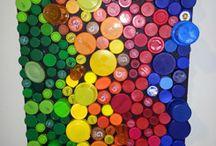bottle cap art projects -bottle caps artwork