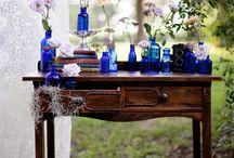 Blue & Levander wedding / A color palette we love: blue and purple!!