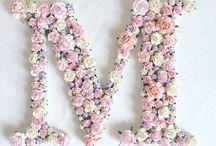 litere florale