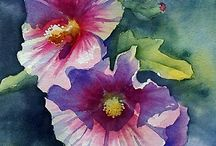 Painting Hollyhocks / by Francoise Chauray