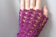Háčkování - rukavice / háčkované rukavice a návleky na ruce