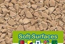 In situ laid polyurethane bound EPDM rubber crumb surface Colour Range