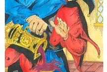 i nostri tarocchi / I Nostri tarocchi disegnati da Luciano Bernasconi noto fumettista disegnatore di Tex Willer è vietata la riproduzione