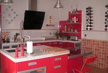 Cocinas de colores / El blanco en tu cocina como base y elegancia combinalo con el color que mas te agrade